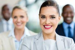 Geschäftsfraunahaufnahmeporträt stockfotos