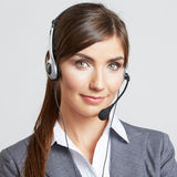 Geschäftsfrauporträt auf Weiß Lizenzfreies Stockbild
