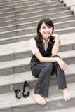 Geschäftsfraurest Lizenzfreie Stockbilder