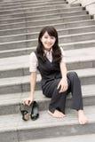 Geschäftsfraurest Stockbild