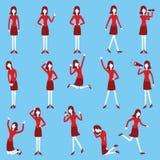 Geschäftsfrausatz Stockfotos