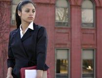 Geschäftsfrauschauen Stockfotografie