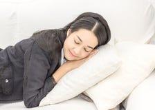Geschäftsfrauschlaf Stockfotos