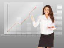 Geschäftsfrauschreibensführung Stockfotografie