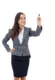 Geschäftsfrauschreiben auf Kopienraum Lizenzfreie Stockfotografie