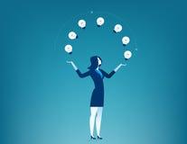 Geschäftsfraushow kreativ lizenzfreie abbildung