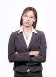 Geschäftsfraustellung Lizenzfreie Stockbilder