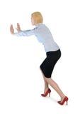 Geschäftsfraustoß etwas Stockbild