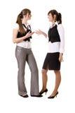 Geschäftsfrauunterhaltung Lizenzfreie Stockfotos