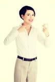 Geschäftsfrauvertretung führte Fühler Lizenzfreie Stockbilder