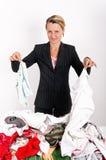 Geschäftsfrauwäsche Stockfoto