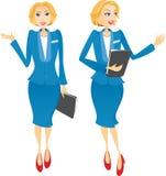 Geschäftsfrauwillkommen Lizenzfreie Stockfotos