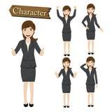 Geschäftsfrauzeichensatz-Vektorillustration Stockbilder