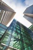 Geschäftsgebäude in Canary Wharf. Stockfotos