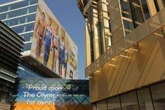 Geschäftsgebäude in Stratford Stockfotografie