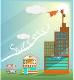 Geschäftsgeschäftswachstums-Marktvektor lizenzfreie abbildung