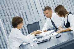 Geschäftsgespräch Stockbild