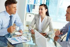 Geschäftsgespräch Lizenzfreie Stockbilder