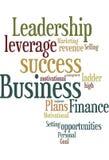 Geschäftsgesprächs-Wortwolke Stockbild
