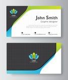 Geschäftsgrußkarten-Schablonendesign führen Sie Karte einschließen s ein Lizenzfreies Stockbild