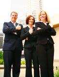 Geschäftsgruppe, die okayzeichen zeigt Stockfoto