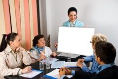 Geschäftsgruppedarstellung bei der Sitzung Lizenzfreie Stockfotografie
