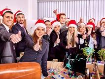 Geschäftsgruppeleute an Weihnachtspartei Stockfotos