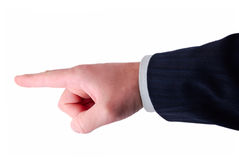 Geschäftshandanzeige Lizenzfreies Stockfoto