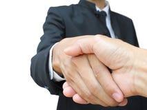 Geschäftshanderschütterung lizenzfreies stockbild