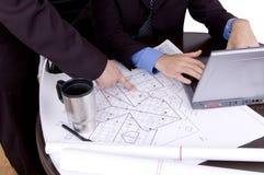 Geschäftshausplan Stockbild