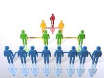 Geschäftshierarchie - horizontal Lizenzfreie Stockfotos