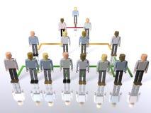 Geschäftshierarchie - horizontal Stockfoto