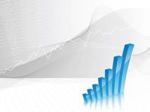 Geschäftshintergrund - Balkendiagramm Stockbild