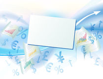 Geschäftshintergrund mit den Dollarzeichen Lizenzfreie Stockfotos