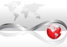 Geschäftshintergrund mit Erdekugel Stockbilder