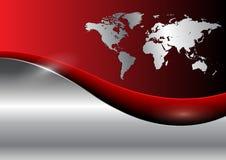 Geschäftshintergrund mit Weltkarte Stockfotos