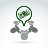 Geschäftsideen-Diskussionskonzept, Chat auf Wirtschaft Stockbilder