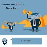 Geschäftsideen-Reihe Skala Lizenzfreie Stockbilder