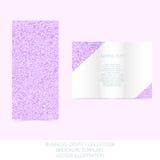 Geschäftsidentitätssammlung Malvenfarbe, Orchidee, violett Dreifachgefaltete Broschüren- oder Fliegerschablone lizenzfreie stockfotos