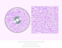 Geschäftsidentitätssammlung - Malvenfarbe, Orchidee, violettes Chaos CD- oder DVD-Abdeckung Schablone Vektorabbildung EPS10 Stockfoto