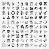 Geschäftsikone mit 100 Gekritzeln Lizenzfreie Stockbilder