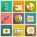 Geschäftsikonen lizenzfreie stockfotos