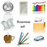 Geschäftsikonen für Büro vektorset Lizenzfreie Stockbilder