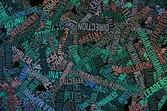 Geschäftsillustrations-Hintergrundzusammenfassung, Wörter bewölken Beschaffenheit Positiv, Dekoration, Alphabet u. Design lizenzfreie stockfotografie