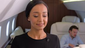 Geschäftsjet-Reise stock video footage
