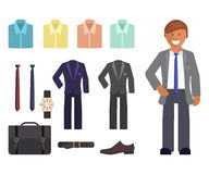 Geschäftskleiderordnung infographics Stockfotografie