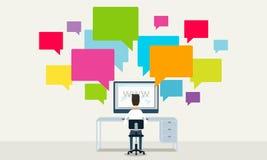 Geschäftskommunikation auf Linie Netzkonzept Lizenzfreies Stockfoto