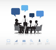 Geschäftskommunikations-Vektor Lizenzfreies Stockbild