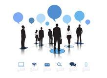Geschäftskommunikations-Vektor Lizenzfreie Stockbilder
