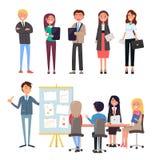 Geschäftskonferenz, Führer und Team Employees vektor abbildung